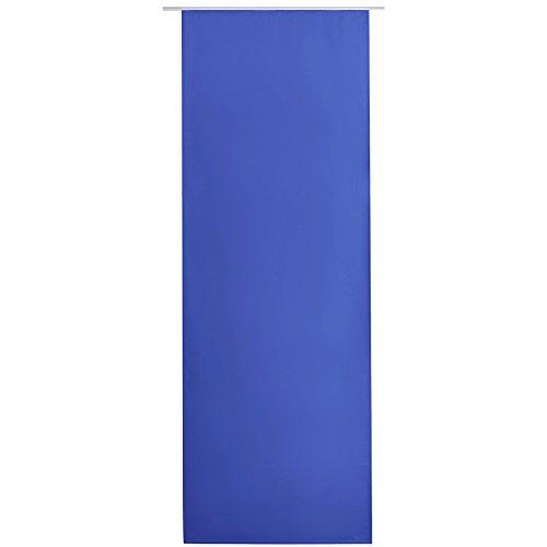 Bestlivings Flächen-Vorhang Blickdicht Schiebe-gardine Raumteiler Schiebe-Vorhang ca.60cm x 245cm, Auswahl: mit Zubehör, blau - Mittelblau