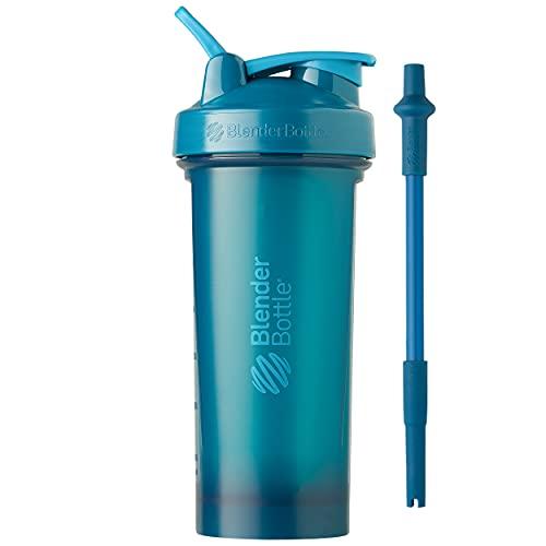 BlenderBottle Classic V2 Shaker Bottle, 28-Ounce, Ocean Blue