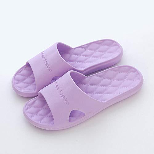 MQQM Chanclas de Playa y Piscina para Unisex Suave,Sandalias de Pareja de Fondo Suave Antideslizante, Zapatillas de baño de Verano-Morado 12_39-40,Zapatillas de Ducha para Mujeres