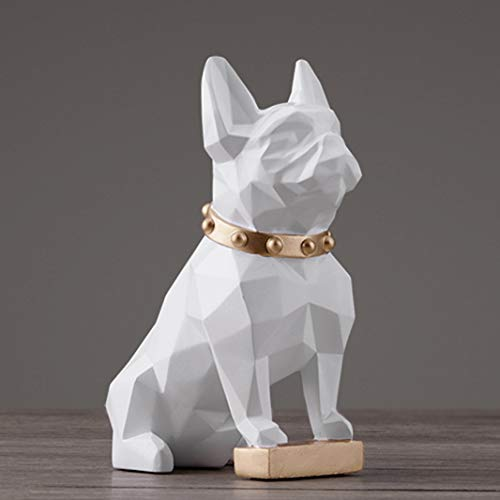GEPIJPGEKH Modern Abstract Dog Statue Fashion Home Decor Resin Crafts Puppy Sculpture Desktop Ornaments French Bulldog Figurine