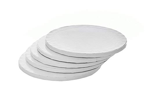 Miss Bakery's House® Cake Drum - 12 mm (Ø 30 cm - 5 Stück, Weiß)