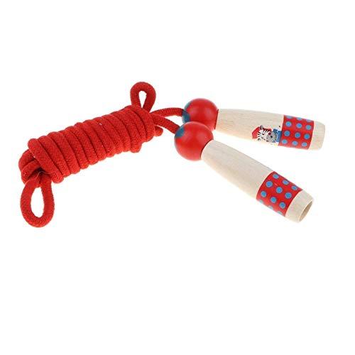 LDH Cuerda Saltar, para Niños Y Adultos Actividad de Diversión Al Aire Libre Inicio Fitness Ajustable Cuerda de Algodón Manija de Madera Saltar La Cuerda