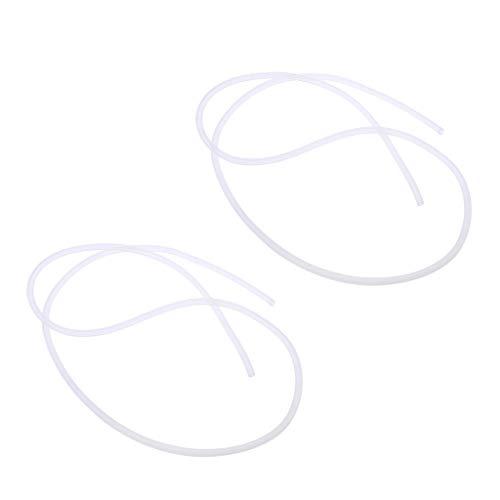 lahomia Manguera de Tubo de Aceite de Silicona Blanca de 2 Piezas de 3.94 Pulgadas para Acceso de Juguete de Coche RC con Motor de Gas