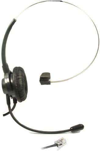 Replacement T100 Headset Headphone Ear+Adjustable Volume+Mute Control Phone for Nortel Networks Nt Nothern Telecom Meridian PBX Norstar Nec Electra Mitel Polycom Toshiba Avaya Lucent Voip IP Telephone