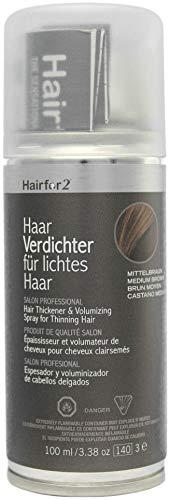 Hairfor2 Haarverdichtungsspray gegen lichtes Haar (100ml) (mittelbraun)