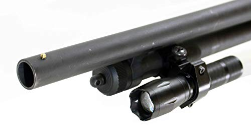 Trinity 1200 lumen strobe flashlight with mount for remington 870 home defense tactical hunting optics aluminum black picatinny weaver mounted adapter.