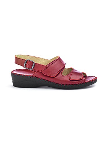 Avena Damen Supersoft-Sandalette Rot Gr. 39