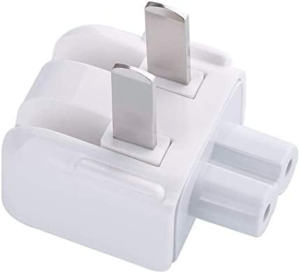 2 PCS Pack SW General US Standard Wall Plug Converter Travel Charger Adapter Fit/Compatible for Apple MacBook/iPad/iPhone/iPod/ipad456 air2 mini3