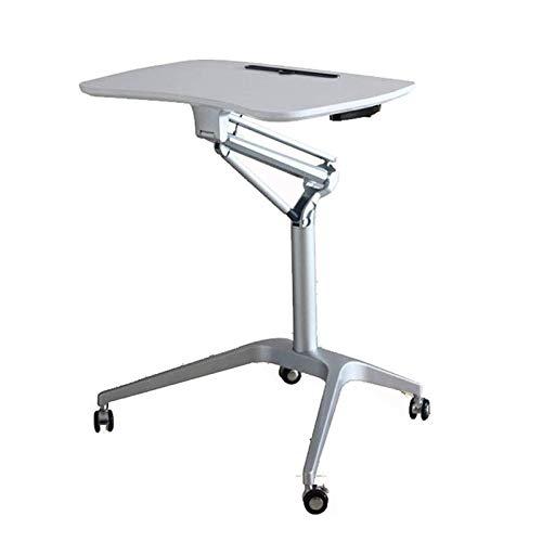 HMBB Tavolini per Computer Mobile Laptop Table Regolabile Altezza Desk, Sit And Stand Mobile Desk, Excellent Lectorn per Ufficio in Classe e casa