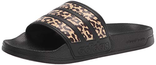 adidas Women's Adilette Shower Slide Sandal, Core Black/Core Black/Core Black, 8