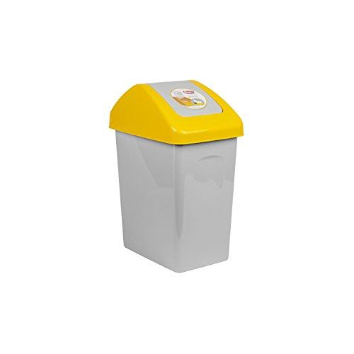 BranQ Pattumiera 10 L per Fare Reciclaggio 3 Colori Diversi (Giallo)