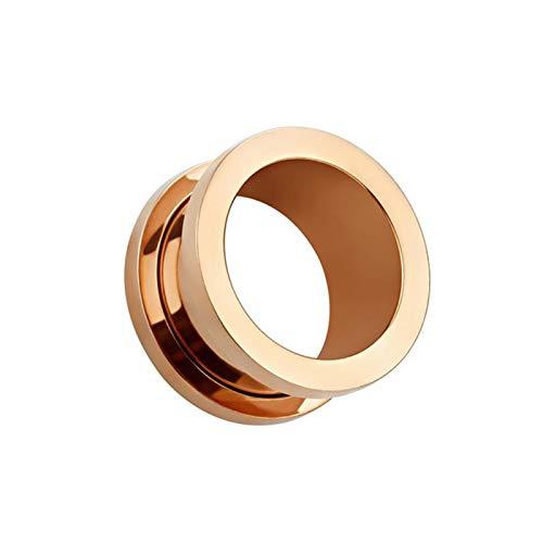 AchidistviQ 1 pendientes unisex para hombres y mujeres, hipoalergénicos para orejas, para regalo de cumpleaños, oro rosa, 4 mm