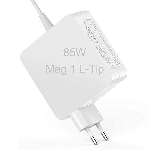 Mac Book Pro Ladegerät 85 W, kompatibel mit L-Tip 85W 60W Netzteil Ladekabel für Mac Book Pro 13' 15' 17' Zoll - Vor Mitte 2012 Mac Modelle - MC556B / C A1343 A1278 A1290 A1286