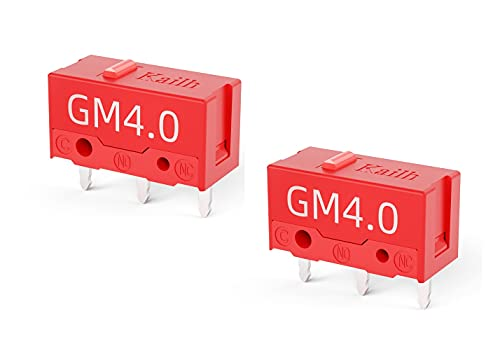 Kailh GM 4.0 Micro Switch 60M Life Gaming Mouse 3 Pin for Mice Left and Right Button (2 PCS)