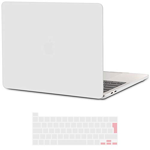 I INESEON MacBook Pro 16 Case, Hard Shell Case Plastic Cover for 2019 2020 MacBook Pro 16 Inch with Touch Bar Model A2141, Frosted Clear