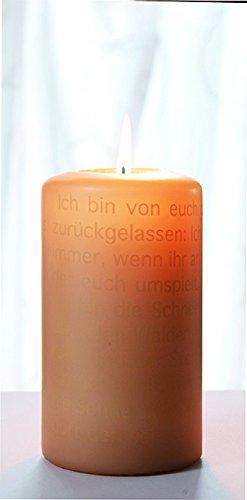 Wortlichtkerze Sinntexte TRAUER - ICH BIN VON EUCH GEGANGEN Bulla Design