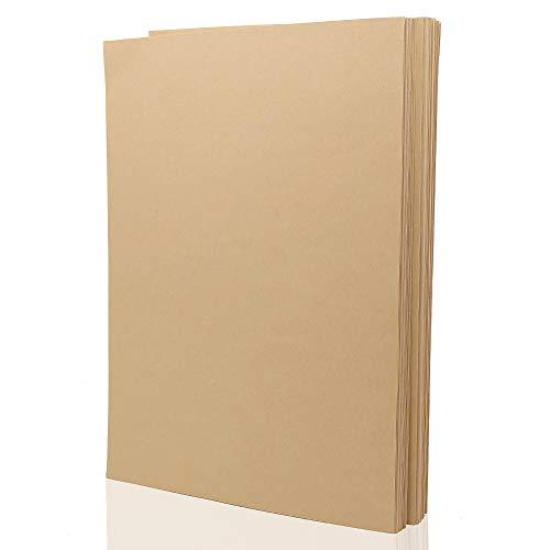 100 vellen recyclebare kraft papier A4 natuurlijke gerecycled bruin kraft papier kaart 160 GSM voor het afdrukken schrijven tekenen maken ambachten kunst DIY Gift Tags wenskaart