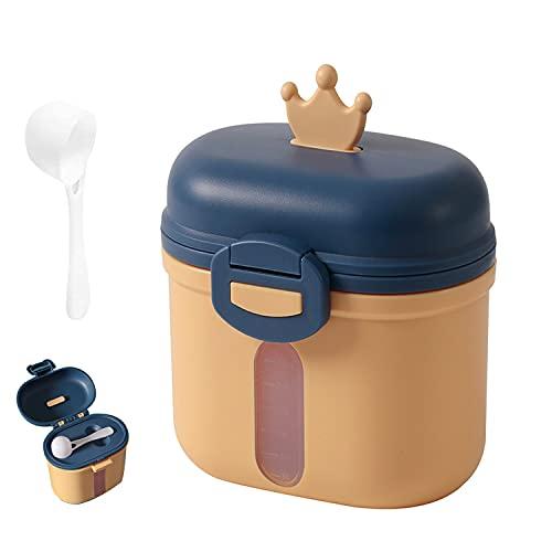 Distributeur de Poudre de Lait, Portable Doseur de Lait, Conteneur de Lait en Poudre, Boîte de Lait Portable, pour Le Lait en Poudre/Collations/Céréales (Jaune)