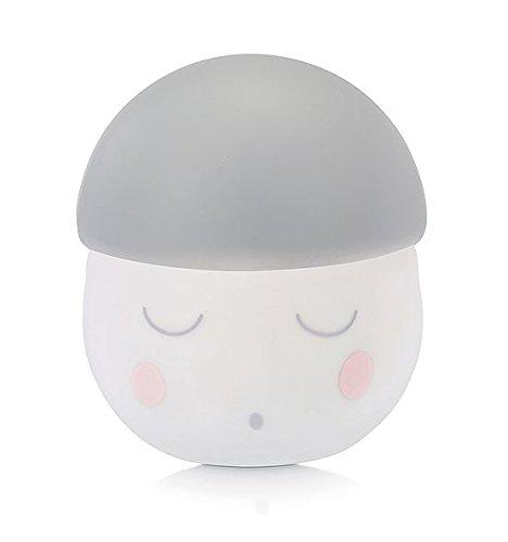 Babymoov Nachtlicht Squeezy grau, sanftes Schlaflicht aus Silikon, Einschlafhilfe für Babys und Kinder, 200 Stunden Batterielaufzeit