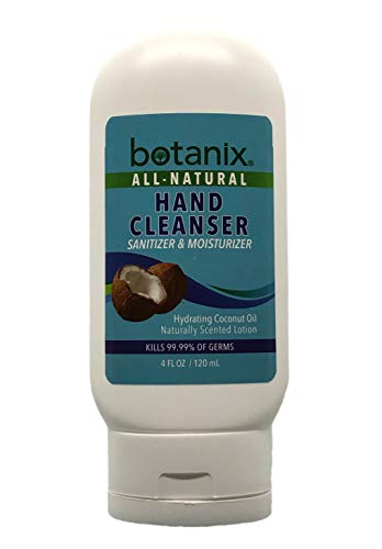 Botanix All-Natural Hand Sanitizer & Moisturizer 65% ETHYL ALCOHOL Cleans, Sanitizes and Moisturizes Hands