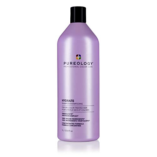 Pureology Hydrate Shampoo | For Dry, Color-Treated Hair | Hydrates & Strengthens Hair | Sulfate-Free | Vegan | Updated Packaging | 33.8 Fl. Oz |