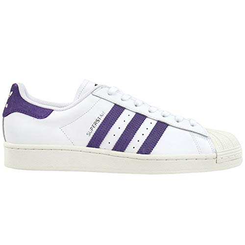 adidas Womens Superstar Lace Up Sneakers Shoes Casual - White - Size 8 B