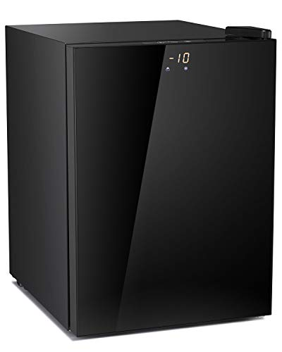 ADT Mini Freezer for Compact Space Small Freezer (Glass black, 2.1 Cubic Feet)