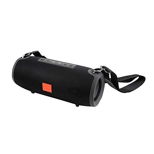 JUNPE Altavoces inalámbricos portátiles 360 ° Sonido Envolvente Completo al Aire Libre estéreo para el hogar de Viaje al Aire Libre (Color : Black)