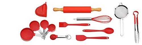 Bo Time Kit de 16 Ustensiles de Pâtisserie et Cuisine Divers et Multifonctions