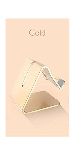 LYLFF®Solid Aluminium Metalen Desktop Stand voor Mobiele Telefoon Tablet PCmobile telefoonhouder voor bed Flat bracket Meerdere kleuren om uit te kiezen, Goud