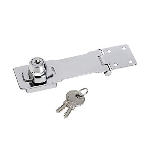 Master Lock 725EURD Door Glasp on Hasp with Key Lock, 11.8 x 4.1