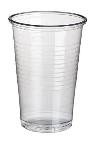 PAPSTAR 12149 Kunststoff-Trinkbecher PP, 0,2 l, transparent, 7.10 x 52.50 x 7.10 cm