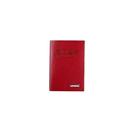 Xyhcs Cuaderno, Cuaderno Exquisito, Cuaderno A5 - Diario Notas Diario y Plan / 176 Hojas (Color : Red)