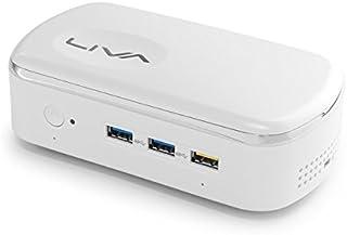 ECS LIVAX²(リバスクエア)【eMMC 32GB、 2GBメモリ】 Windows 10 Home 64bit OSを標準搭載、4K出力に対応した小型デスクトップ LIVAX2-2/32-W10
