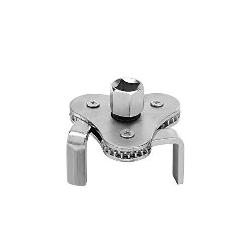 OutingStarcase Filtro de acero de la máquina de combustible de aceite Desmontaje Llave plana de mandíbula Aceite de cuadrícula herramienta con un 2/1 a 3/8 adaptador llave de filtro ajustable del hoga