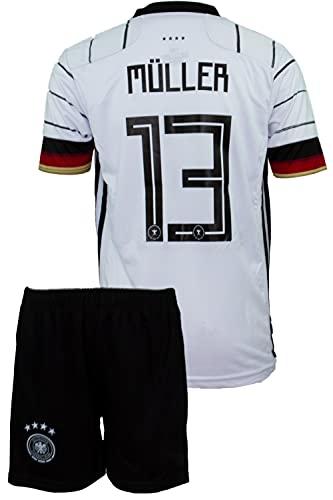 StoneMale 2021 Deutschland Heim Thomas Müller #13 Kinder Trikot Europäische Nationalmannschaften (104, 2-3 Jahre)