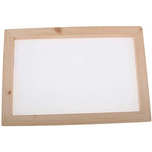 POFET Alte Papierherstellungsmethode Holzpapierherstellung Basteln Papierherstellung Formrahmensieb für Heimwerkerbedarf - 20x30cm