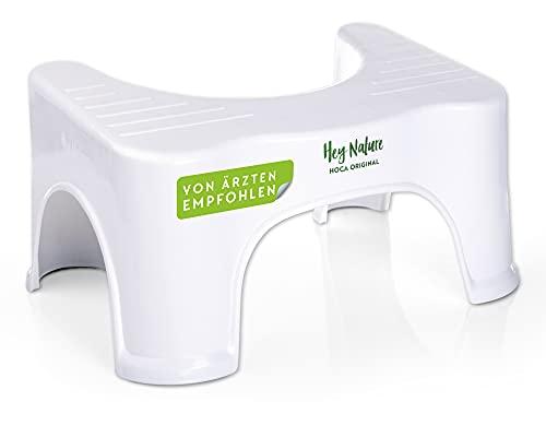 HOCA medizinischer Toilettenhocker, Mittel gegen Hämorrhoiden, Verstopfung, Reizdarm, Blähungen – Immunsystem stärken durch einen gesunden Darm – vollständige, beschleunigte Darmentleerung in der Hocke