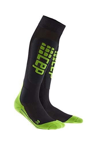 Preisvergleich Produktbild CEP Damen Progressive+ Ski Ultralight Socks WP47 Black / Green 39-44cm