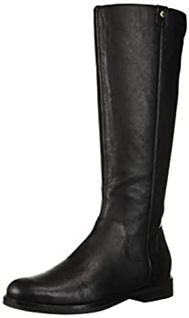 Cole Haan Women s Calissa Riding Boot Mid Calf Black Leather 8 B US