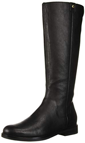 Cole Haan Women's Calissa Riding Boot Mid Calf, Black Leather, 7 B US