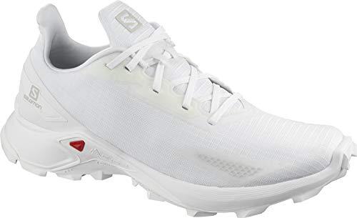 Salomon Alphacross Blast, Zapatillas De Trail Running Cómodas Y Fuerte Agarre Hombre, Color: Blanco (White/White/White), 44 EU
