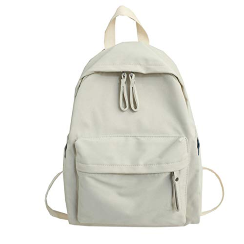 KunmniZ Women Backpack Canvas Casual Rucksack for Teenage Girls Large Capacity School Bookbag Travel Daypack