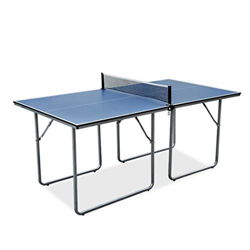 LJXWH Faltbare Tischtennisplatte, Heiminnen Abnehmbarer Tischtennis-Tisch, im Freien beweglichen Tisch Picknick-Bier-Spieltisch, Kinder Mini-Tischtennistisch Set Ping Pong Trainer