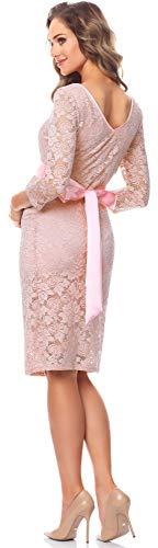 Be Mammy Damen Umstandskleid Maternity Schwangerschaftskleid BE20-170 (Puderrosa) - 2