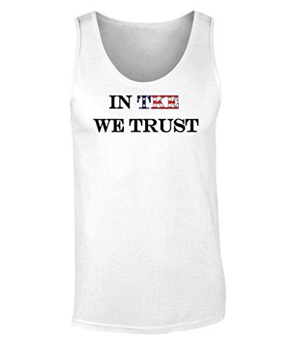Fashion Greek Tau Kappa Epsilon in Teke We Trust Graphic Unisex Tank Top White XX-Large