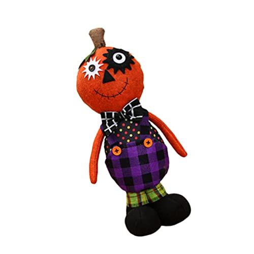NOLITOY Muñeca de Peluche Calabaza de Halloween Muñeca de Peluche de Calabaza para Niños Fiesta de Halloween Favorece Puerta Patio Jardín Adornos de Jardín