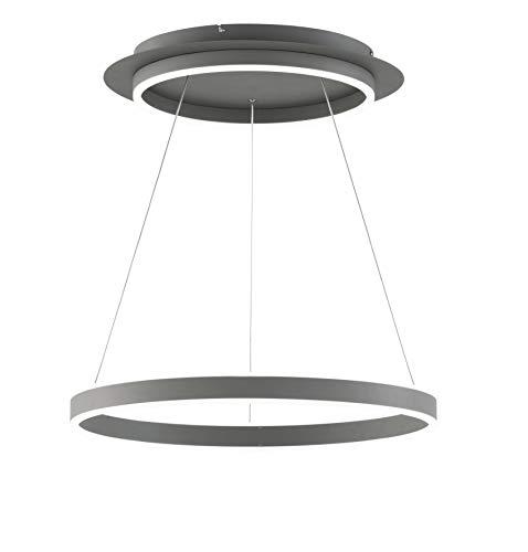 WOFI Kemi lámpara colgante, gris oscuro, H: 150 cm x B: 60 cm x L: 60 cm
