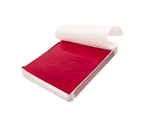 100st Art Craft Design Paper Deco folie kunst voor vergulden DIY Craft decoratie kaart maken van nagel nagel decor, rood
