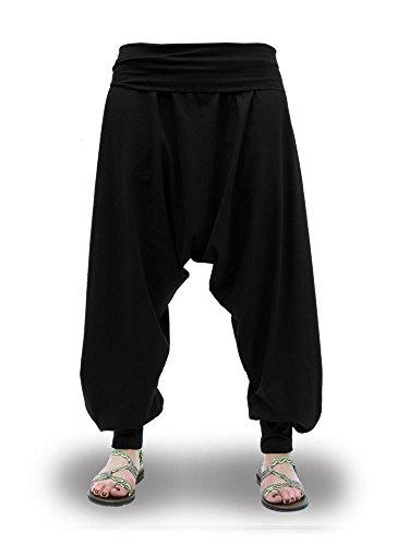 Pantalones Harem Cagados Etnicos Yoga Thai Unisex Cuatro Tallas (XL)